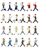 Illustrations of various people / Student