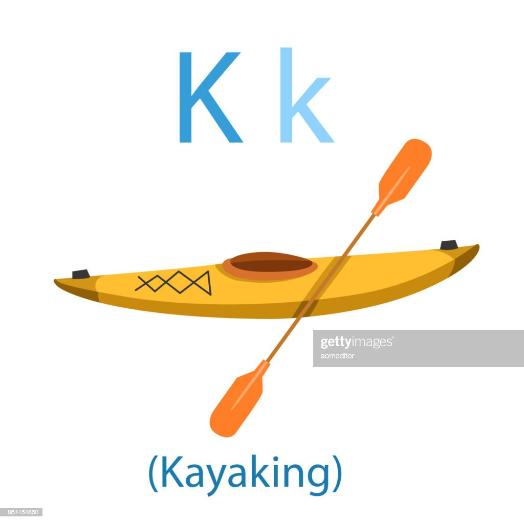 Illustrator of K for Kayaking