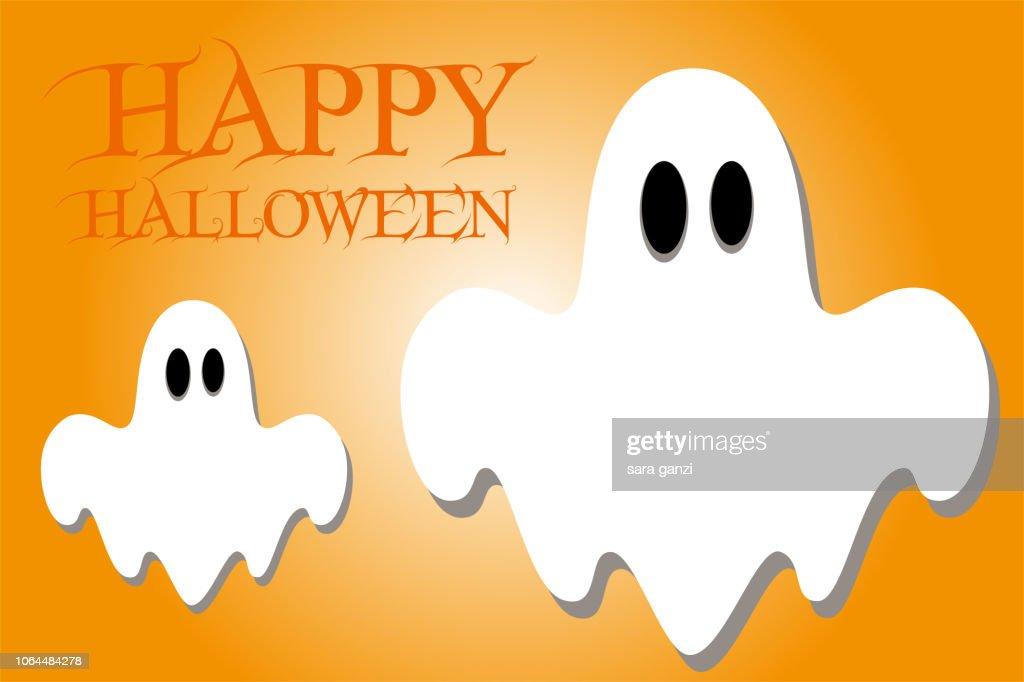 Illustrazione fantasmi, Vettoriale Halloween