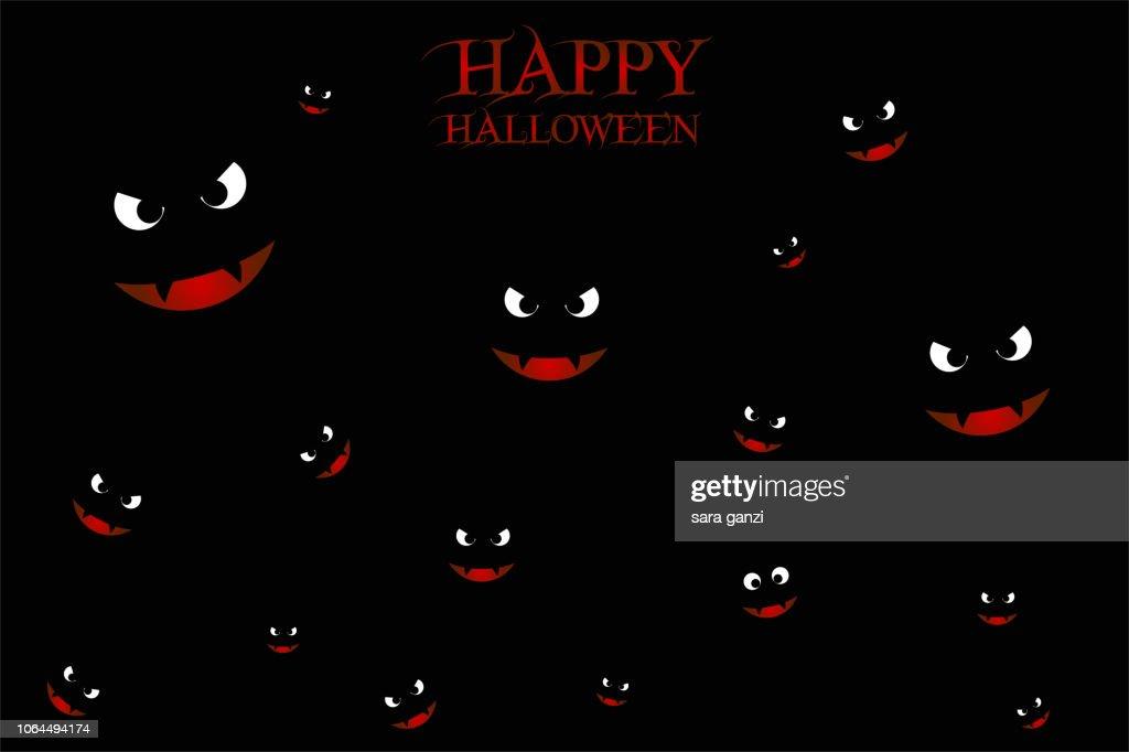 Illustrazione occhi di pipistrelli, Vettoriale Halloween