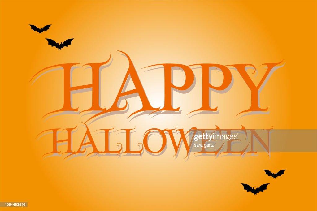 Illustrazione testo Happy Halloween