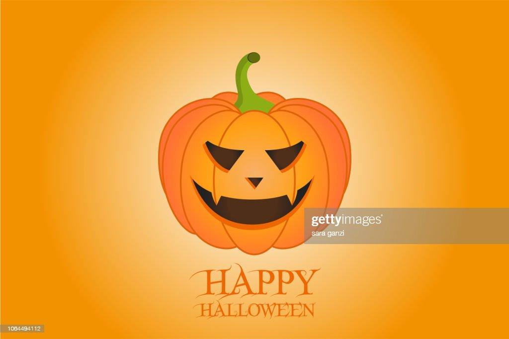Illustrazione zucca spettrale, Vettoriale Halloween
