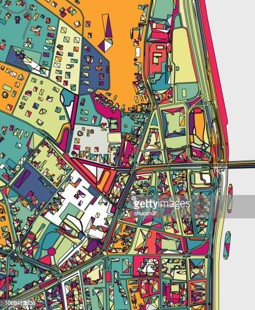 ilustration of budapest city structure art map