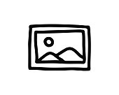 image hand drawn icon