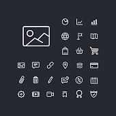 Image icon in set on the black background.