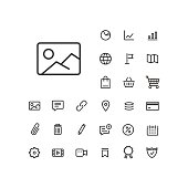 Image icon in set on the white background.