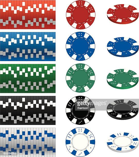 Image of casino gambling chips In different values