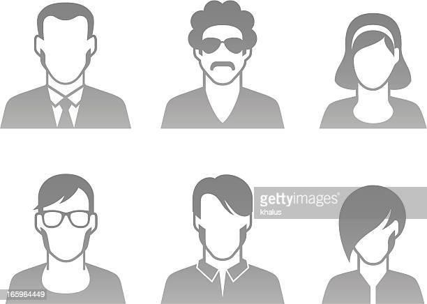menschen profil zeichen - zielgruppe stock-grafiken, -clipart, -cartoons und -symbole
