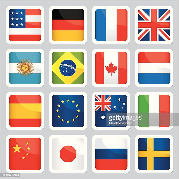 Image of different flags from around the world