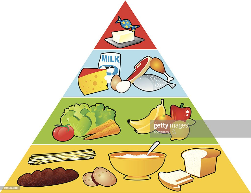 Image of food pyramid consists of necessary nutrition
