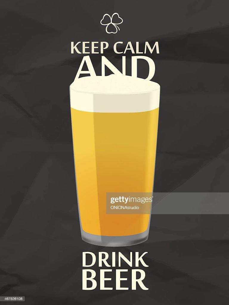 Image of pint of beer with keep calm and drink beer written