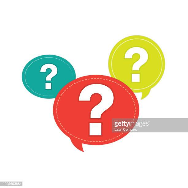 image of question mark symbol in a white background for assembly or create teaching material for mothers who do homeschool and teachers who find pictures for teaching materials such as flashcards or children's books. - question stock illustrations
