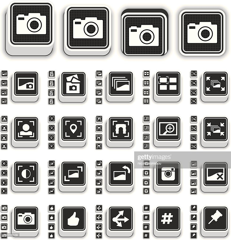 Image Sharing Icons 3D