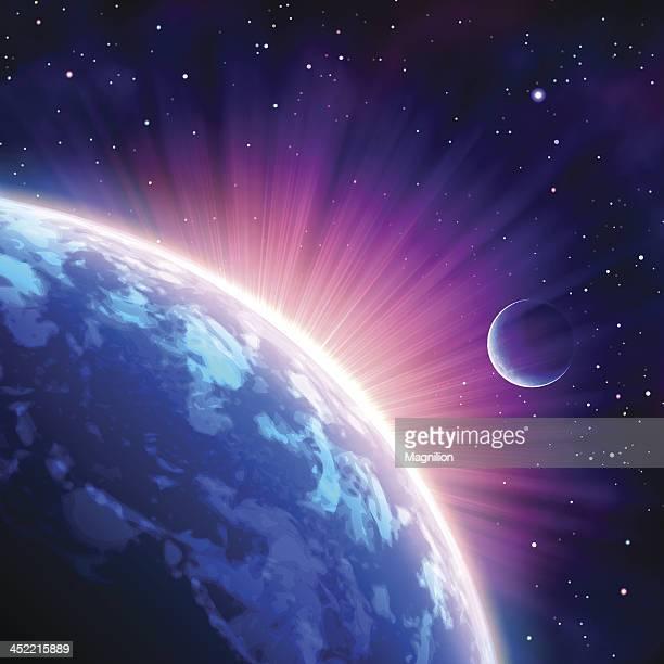 weltraum - planet erde stock-grafiken, -clipart, -cartoons und -symbole
