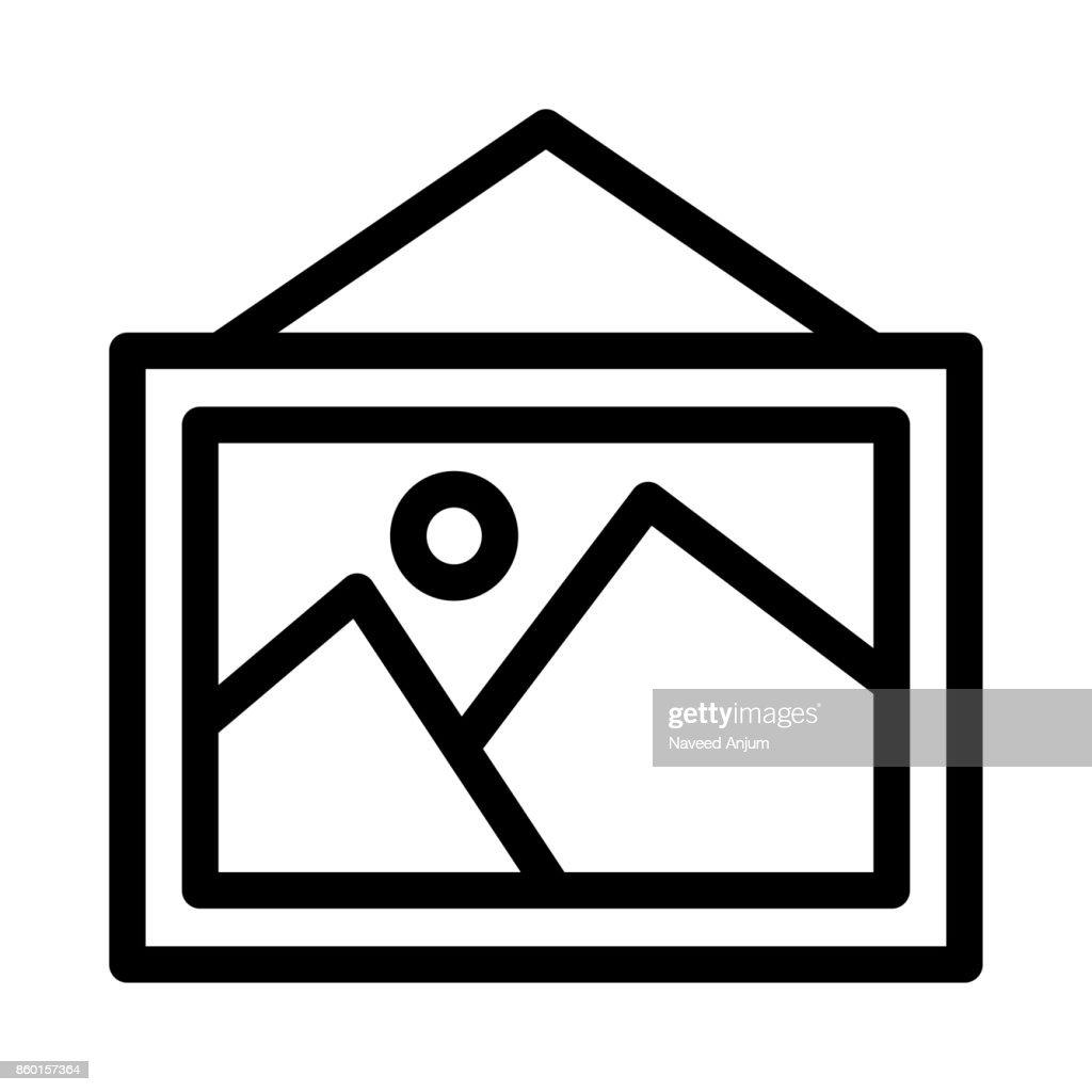 image Thin Line Vector Icon