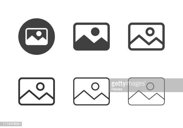 stockillustraties, clipart, cartoons en iconen met afbeeldings type-pictogrammen-multi-serie - foto