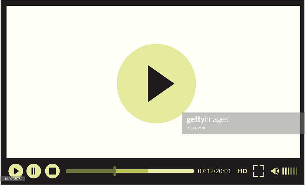 Image view of a video player for web that is paused