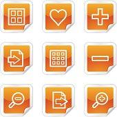 Image viewer web icons, orange glossy sticker series