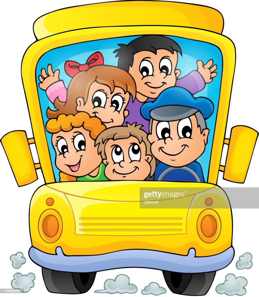 Image with school bus theme 1