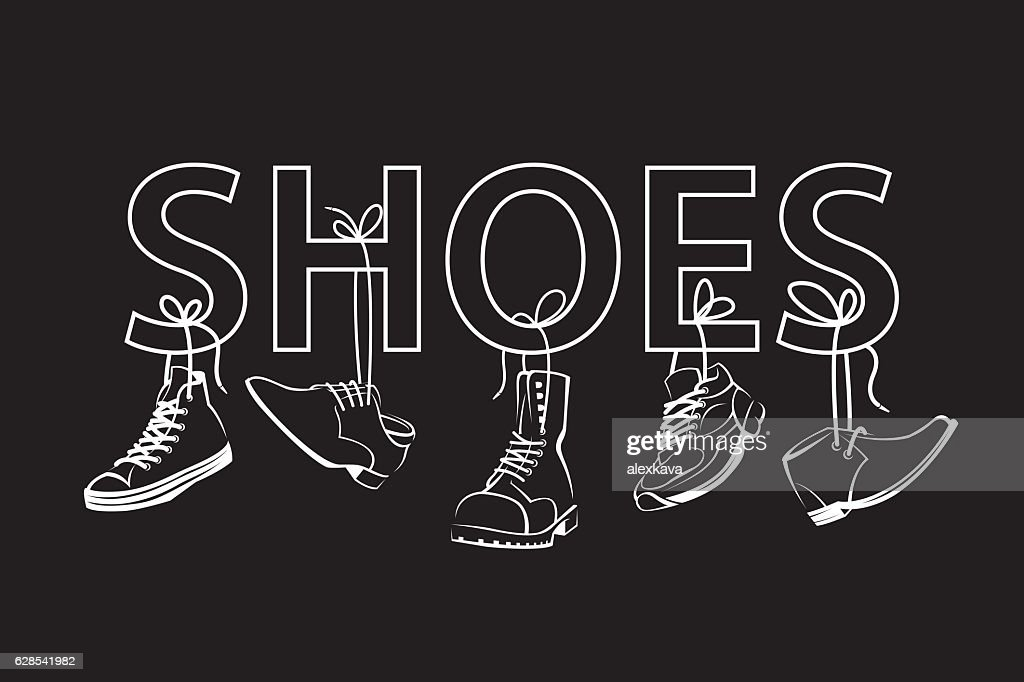 image with text and shoes