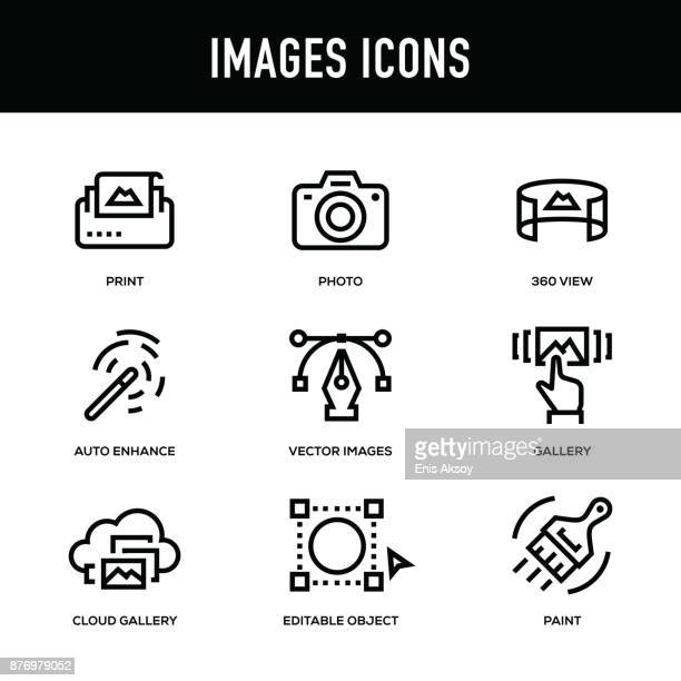 Images Icon Set - Thick Line Series