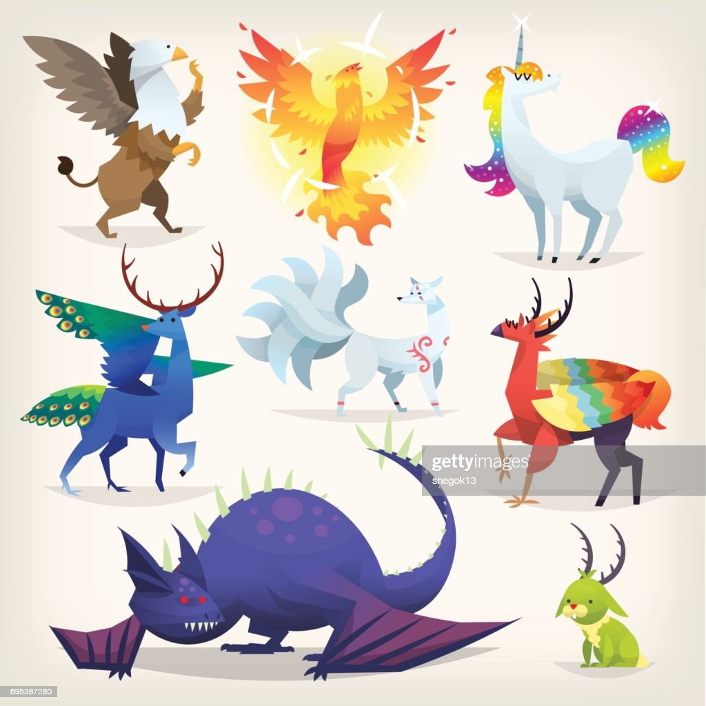 Imaginary animals from fairy tales