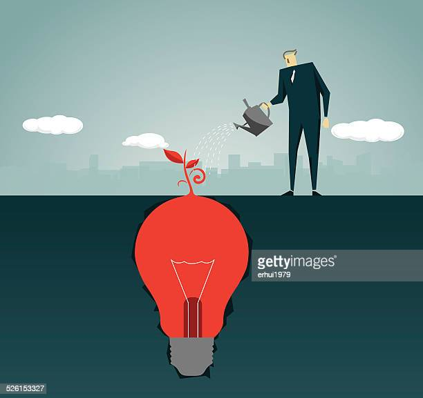 Imagination, Intelligence Tree , Strategy,Solution, Light Bulb, Lamp