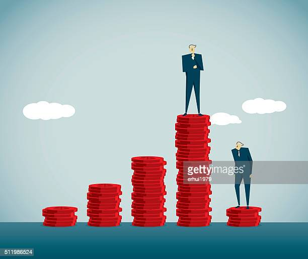 imbalance - contrasts stock illustrations