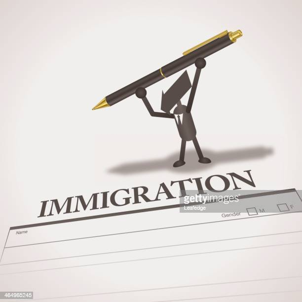 immigration - immigration law stock illustrations