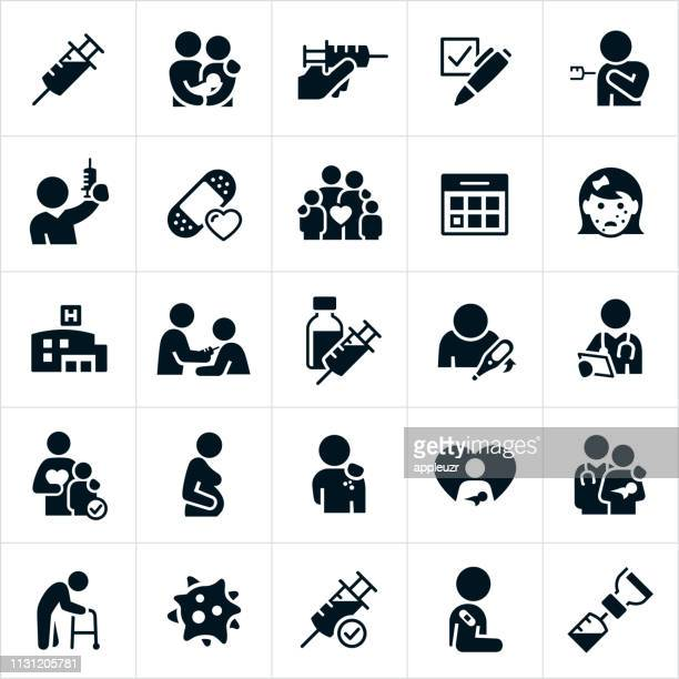 immunization icons - injecting stock illustrations