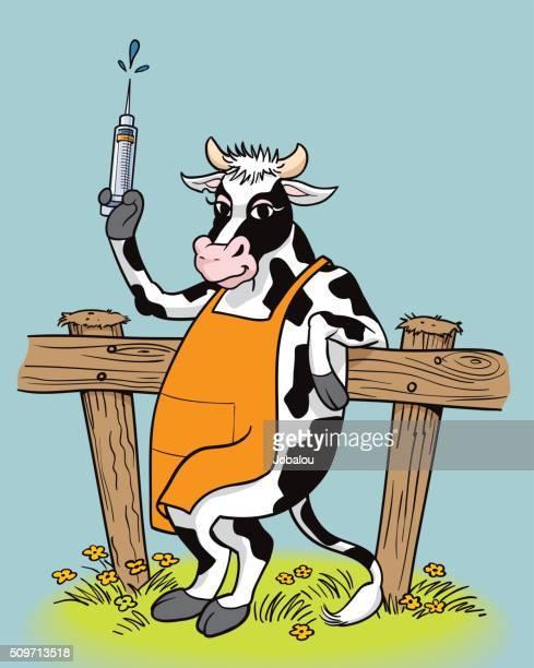immunized cow - antibiotic stock illustrations, clip art, cartoons, & icons