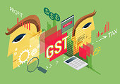 GST Impact on Business - Illustration