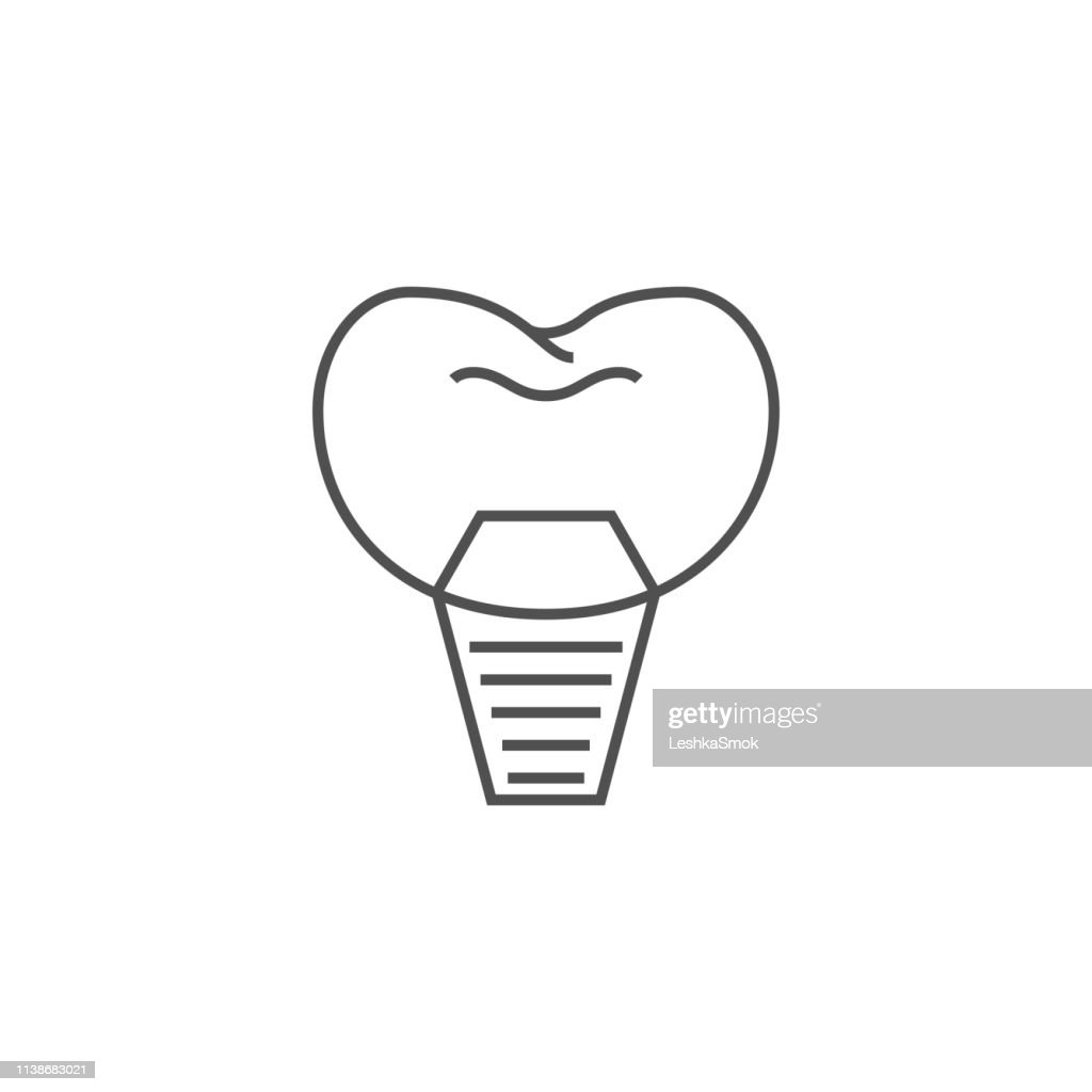 Implants Dentistry Line Icon