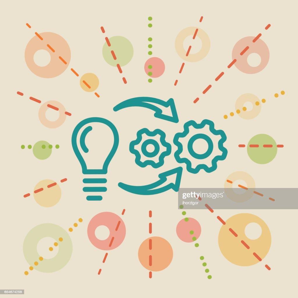 Implementation. Concept business illustration