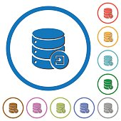Import database icons with shadows and outlines