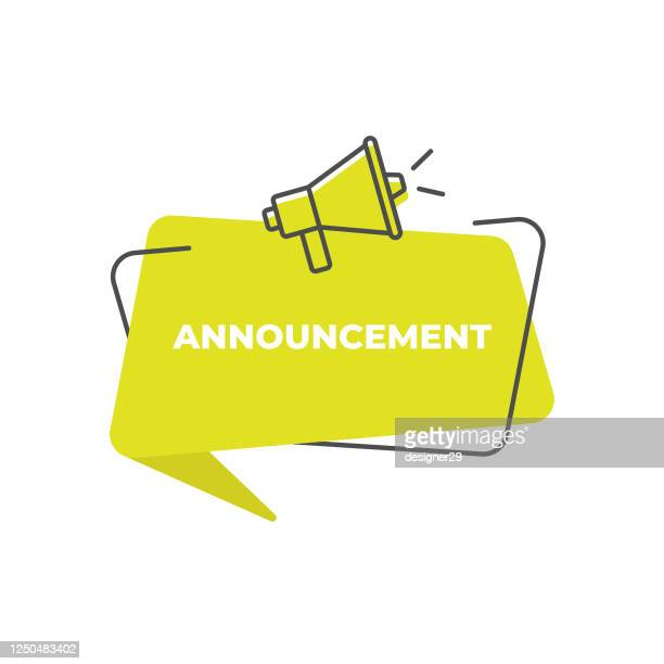 important announcement speech bubble icon vector design. - concentration stock illustrations