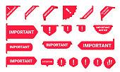 Important notice information banner label set