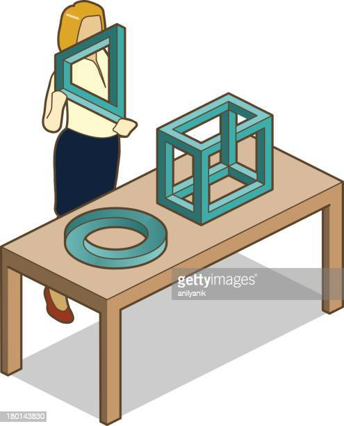 impossible objects - esher stock illustrations