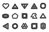 Impossible shapes set