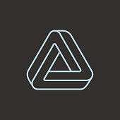 Impossible triangle icon