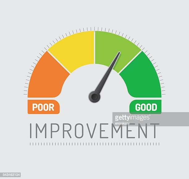 improvement chart - meter instrument of measurement stock illustrations