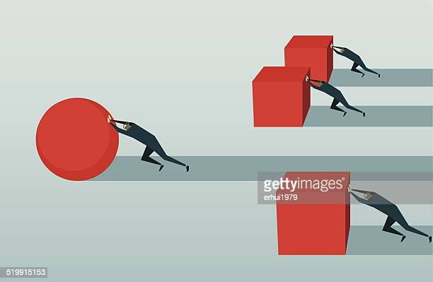 stockillustraties, clipart, cartoons en iconen met improvement, competition, pursuit, challenge, conquering adversity, strategy,  efficiency, solution - effectiviteit