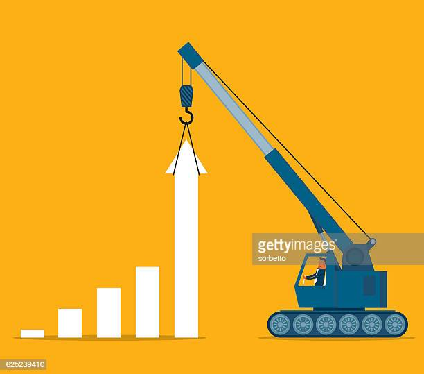 improvement - crane construction machinery stock illustrations