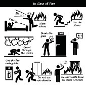In Case of Fire Emergency Plan Icons