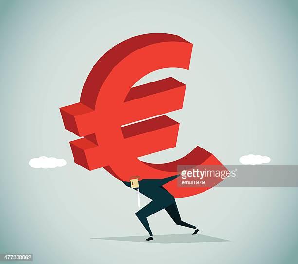 in debt - subprime loan crisis stock illustrations