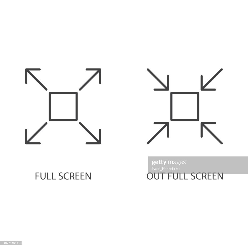 In full screen, out full screen icon icon vector