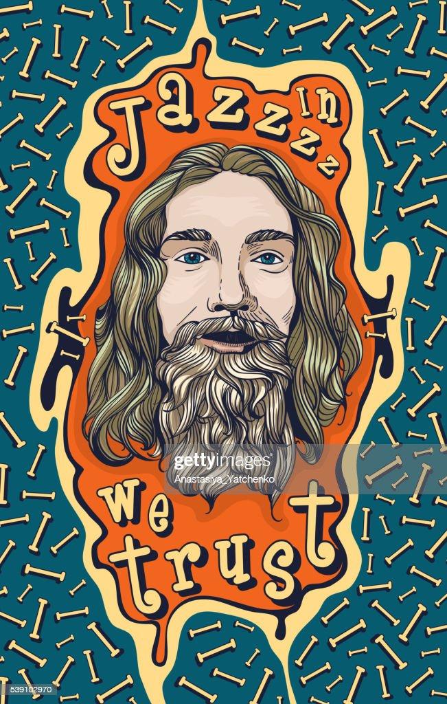In Jazz we trust. Poster design