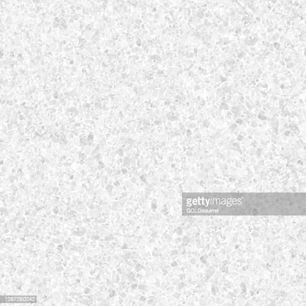 granite stone in macro - seamless pattern design in shades of light gray - beautiful creative natural background in vector with visible little pebbles texture and rough uniform structure - original stock illustration - close up stock illustrations