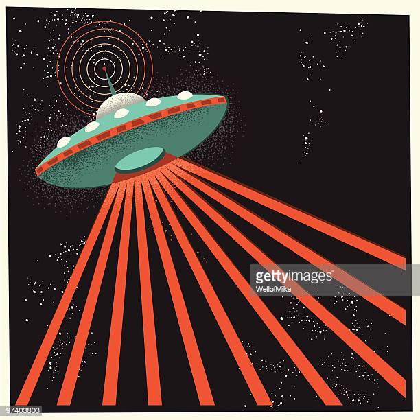 illustrations, cliparts, dessins animés et icônes de ovni dans l'espace - extraterrestre