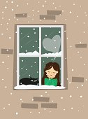 In The Window - Illustration